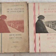 Libros de segunda mano: MEMORIAS DE UN SETENTON - T. LLORENTE FALCÓ - 4 VOLÚMENES COMPLETA - VALENCIA AÑO 1942-1945. Lote 289552973