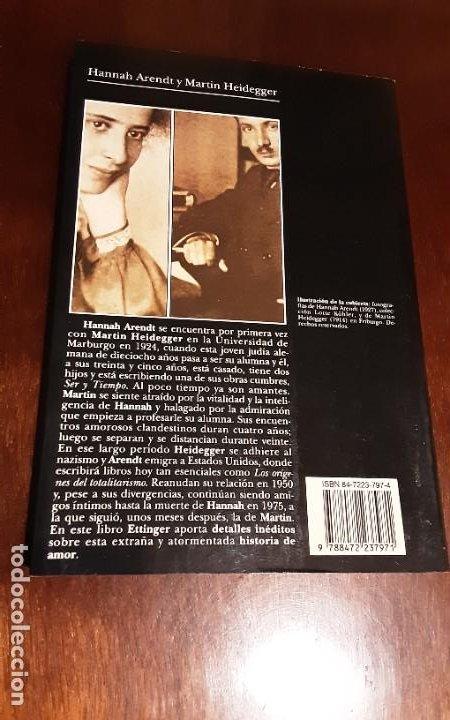 Libros de segunda mano: HANNA ARENDT Y MARTIN HEIDEGGER. ELZBIETA ETTINGER. TUSQUETS - Foto 3 - 293669988