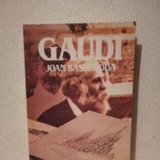 Libros de segunda mano: LIBRO - GAUDÍ - BIOGRAFÍAS - JOAN BASSEGODA - BIBLIOTECA SALVAT DE GRANDES. Lote 293690603