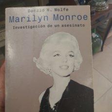 Libros de segunda mano: LIBRO MARILYN MONROE..INVESTIGACION DE UN ASESINATO. Lote 293845398