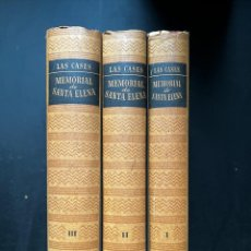 Libros de segunda mano: MEMORIAL DE SANTA ELENA. TOMOS I, II Y III. LAS CASES. OBRAS MAESTRAS. JOAQUIN GIL EDITOR. BARCELONA. Lote 296725003