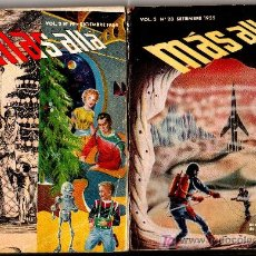 Libros de segunda mano: MÁS ALLÁ, AÑO 1954 - 1955, NºS 19 Y 28, 158 Y 164 PGS. Lote 23671603