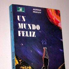 Libros de segunda mano: UN MUNDO FELIZ. ALDOUS HUXLEY. ANAYA EDITORES, MÉXICO 1980. PORTADA DE SERGIO WITZMAN. UTOPIA.. Lote 26018862