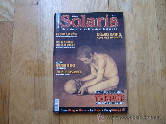 REVISTA SOLARIS Nº 15 - GUÍA BIMESTRAL DE LITERATURA FANTÁSTICA - LA FACTORÍA - ROL (Libros de Segunda Mano (posteriores a 1936) - Literatura - Narrativa - Ciencia Ficción y Fantasía)