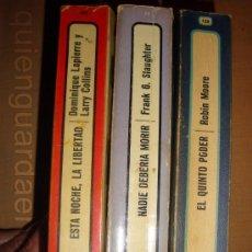 Libros de segunda mano: LOTE 3 LIBROS P&J COL. EL ARCA DE PAPEL -EL QUINTO PODER-NADIE DEBERÍA MORIR-ESTA NOCHE LA LIBERTAD. Lote 31672610