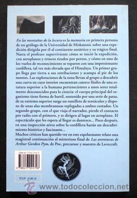 Libros de segunda mano: En las montañas de la locura - H.P. Lovecraft - Valdemar (Col. El Club Diógenes) 2004 NUEVO - Foto 2 - 33298933