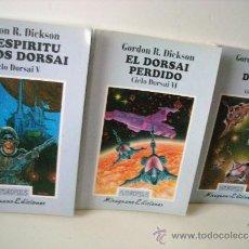 Libros de segunda mano: GORDON R. DICKSON - 3 LIBROS CICLO DORSAI - RARISIMOS. Lote 34391344