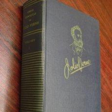 Libros de segunda mano: OBRAS COMPLETAS DE JULIO VERNE. TOMO I, 1955. . Lote 34675189