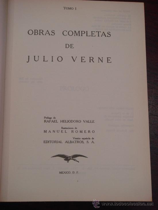 Libros de segunda mano: OBRAS COMPLETAS DE JULIO VERNE. Tomo I, 1955. - Foto 2 - 34675189