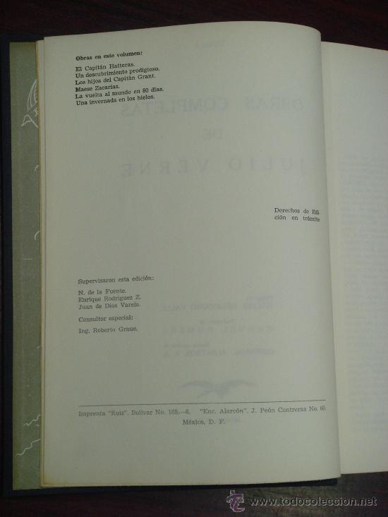 Libros de segunda mano: OBRAS COMPLETAS DE JULIO VERNE. Tomo I, 1955. - Foto 3 - 34675189