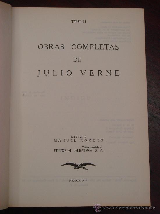 Libros de segunda mano: OBRAS COMPLETAS DE JULIO VERNE. Tomo II, 1956 - Foto 2 - 34675141