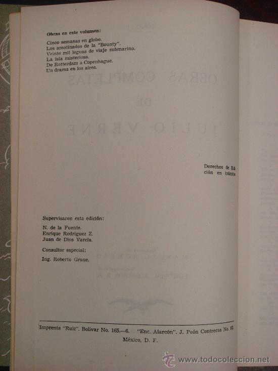 Libros de segunda mano: OBRAS COMPLETAS DE JULIO VERNE. Tomo II, 1956 - Foto 3 - 34675141