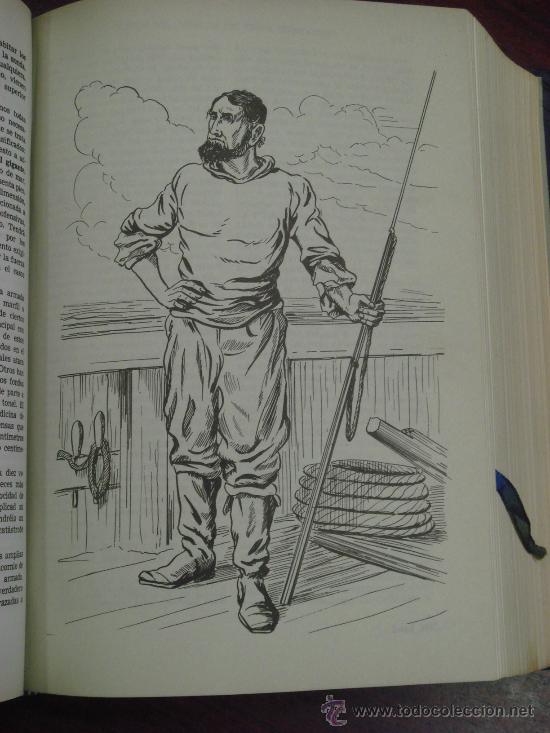 Libros de segunda mano: OBRAS COMPLETAS DE JULIO VERNE. Tomo II, 1956 - Foto 5 - 34675141