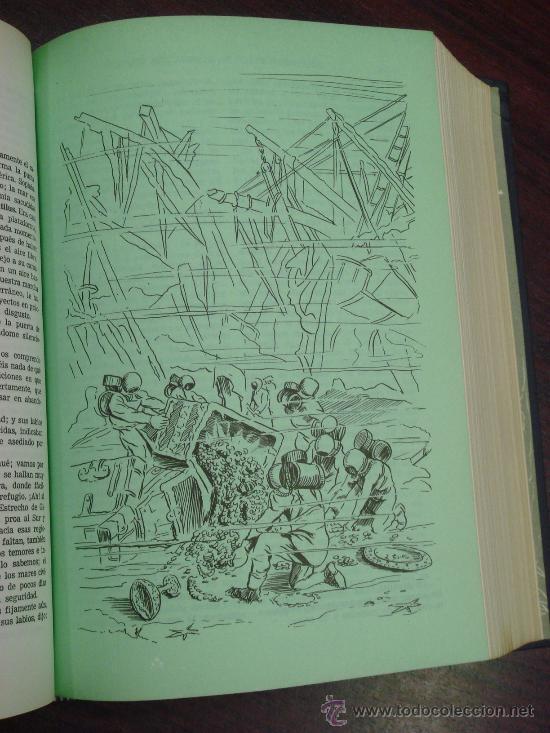 Libros de segunda mano: OBRAS COMPLETAS DE JULIO VERNE. Tomo II, 1956 - Foto 6 - 34675141