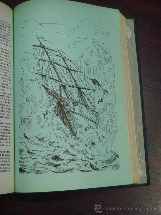 Libros de segunda mano: OBRAS COMPLETAS DE JULIO VERNE. Tomo II, 1956 - Foto 7 - 34675141