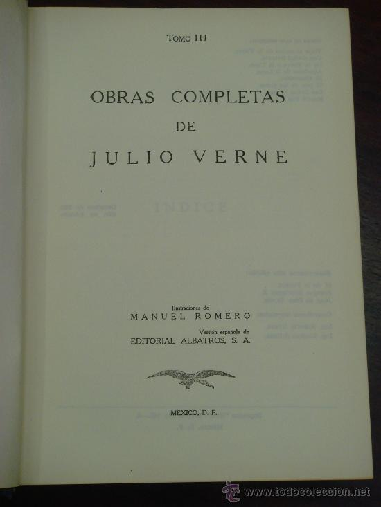 Libros de segunda mano: OBRAS COMPLETAS DE JULIO VERNE. Tomo III, 1957. - Foto 2 - 34675100