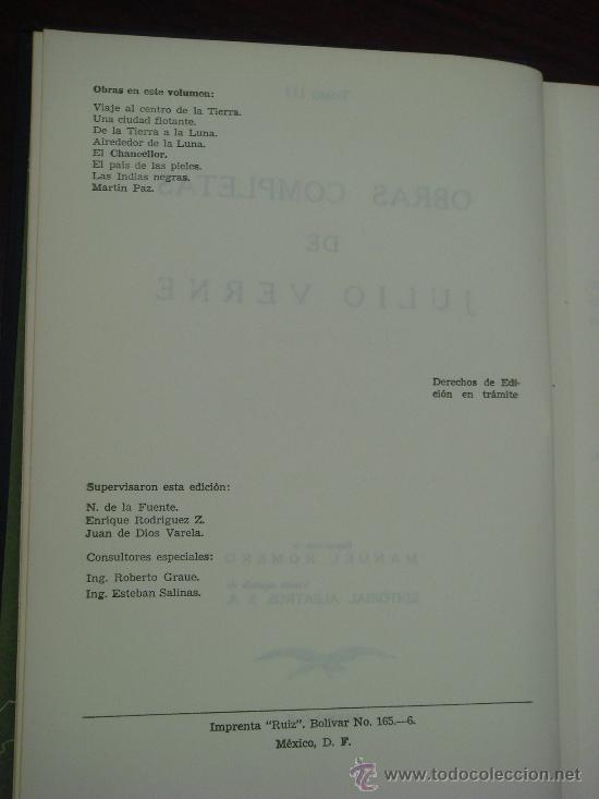 Libros de segunda mano: OBRAS COMPLETAS DE JULIO VERNE. Tomo III, 1957. - Foto 3 - 34675100