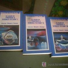 Libros de segunda mano: EDWARD L. FERMAN: LO MEJOR DE FANTASY & SCIENCE FICTION: OBRA COMPLETA EN 3 TOMOS. Lote 38113555