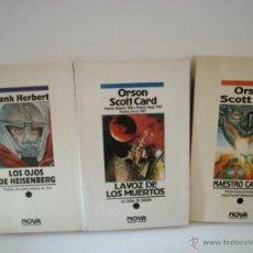 Libros de segunda mano: LA VOZ DE LOS MUERTOS - MAESTRO CANTOR - LOS OJOS DE HEISENBERG. Lote 40336610