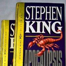 Libros de segunda mano: APOCALIPSIS, POR STEPHEN KING. LOS DOS TOMOS.. Lote 33527850