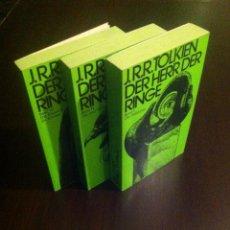 Libros de segunda mano: J.R.R. TOLKIEN DER HERR DER RINGE. BAND I,II,III. IN PERFEKTEM ZUSTAND. 1972. ISBN 3-12-908080-5. Lote 42231792