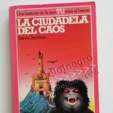Libros de segunda mano: LA CIUDADELA DEL CAOS - LUCHA FICCIÓN 2 CIENCIA FICCIÓN FANTASÍA EDITORIAL ALTEA JUNIOR LIBRO JUEGO. Lote 43352967