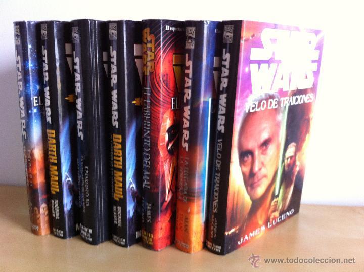 STAR WARS. ALBERTO SANTOS EDITOR. 7 TOMOS. JAMES LUCENO, ALAN DEAN FOSTER, MICHAEL REAVES... (Libros de Segunda Mano (posteriores a 1936) - Literatura - Narrativa - Ciencia Ficción y Fantasía)