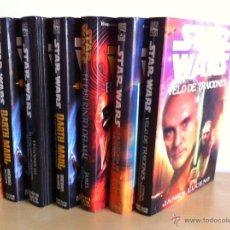Libros de segunda mano: STAR WARS. ALBERTO SANTOS EDITOR. 7 TOMOS. JAMES LUCENO, ALAN DEAN FOSTER, MICHAEL REAVES.... Lote 43421318