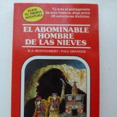 Libros de segunda mano: LIBRO JUEGO - EL ABOMINABLE HOMBRE DE LAS NIEVES - ELIGE TU PROPIA AVENTURA Nº 4 - TIMMUN MAS. Lote 43992449