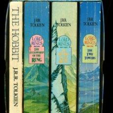 Libros de segunda mano: THE TOLKIEN BOX SET: THE HOBBIT + THE LORD OF THE RING (EN CAJA ARCHIVADORA) 1987. Lote 45044817