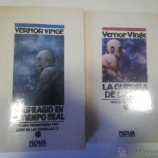 Libros de segunda mano: NOVA CIENCIA FICCION VERNOR VINGE SERIE BURBUJAS NAUFRAGIO TIEMPO REAL GUERRA DE LA PAZ. Lote 46247663