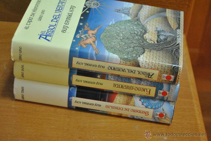 Libros de segunda mano: C62 TIMUN MAS GUY GAVRIEL KAY EL TAPIZ DE FIONAVAR ARBOL VERANO, FUEGO ERRANTE, SENDERO TINIEBLAS - Foto 4 - 108750638