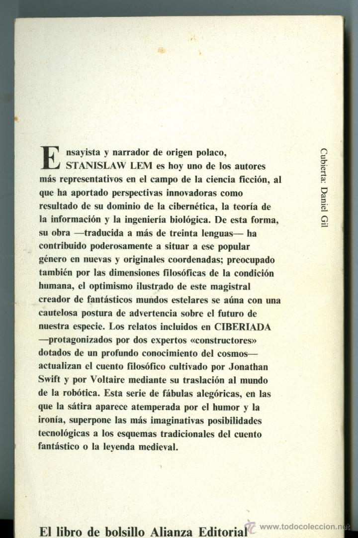 Libros de segunda mano: CIBERIADA - STANISLAW LEM (ALIANZA EDITORIAL) - Foto 2 - 49390490