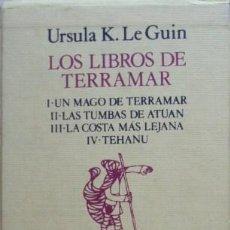 Libros de segunda mano: LOS LIBROS DE TERRAMAR DE URSULA K. LE GUIN - 4 VOL.. Lote 50099658