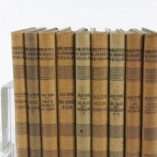 Libros de segunda mano: L-1193. JULIO VERNE. BIBLIOTECA DE GRANDES NOVELAS. 9 LIBROS. RAMON SOPENA. 1939 - 1941.. Lote 50603847