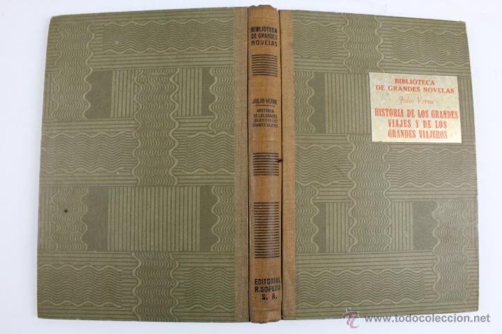 Libros de segunda mano: L-1193. JULIO VERNE. BIBLIOTECA DE GRANDES NOVELAS. 9 LIBROS. RAMON SOPENA. 1939 - 1941. - Foto 4 - 50603847