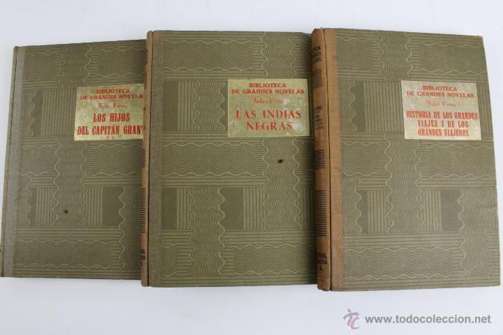 Libros de segunda mano: L-1193. JULIO VERNE. BIBLIOTECA DE GRANDES NOVELAS. 9 LIBROS. RAMON SOPENA. 1939 - 1941. - Foto 5 - 50603847