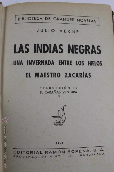 Libros de segunda mano: L-1193. JULIO VERNE. BIBLIOTECA DE GRANDES NOVELAS. 9 LIBROS. RAMON SOPENA. 1939 - 1941. - Foto 6 - 50603847
