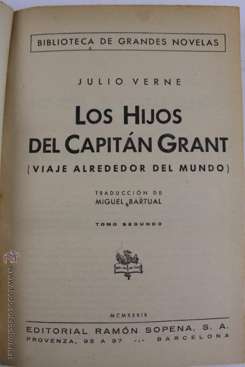 Libros de segunda mano: L-1193. JULIO VERNE. BIBLIOTECA DE GRANDES NOVELAS. 9 LIBROS. RAMON SOPENA. 1939 - 1941. - Foto 7 - 50603847