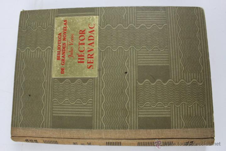 Libros de segunda mano: L-1193. JULIO VERNE. BIBLIOTECA DE GRANDES NOVELAS. 9 LIBROS. RAMON SOPENA. 1939 - 1941. - Foto 8 - 50603847