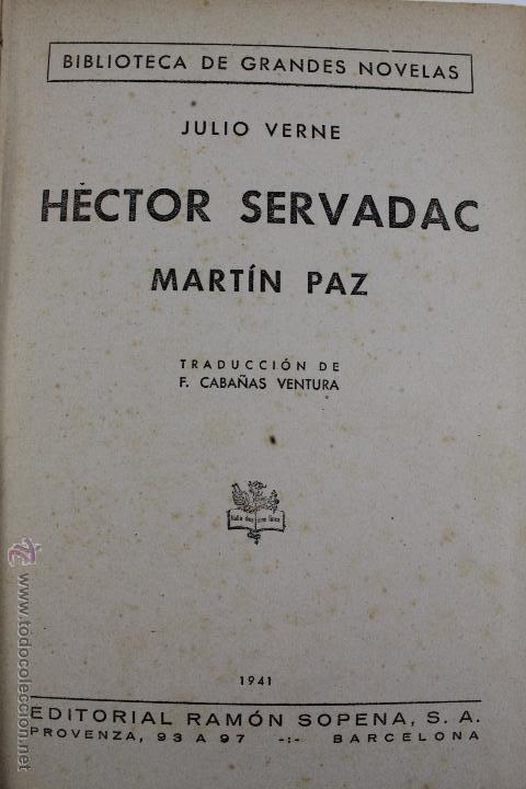 Libros de segunda mano: L-1193. JULIO VERNE. BIBLIOTECA DE GRANDES NOVELAS. 9 LIBROS. RAMON SOPENA. 1939 - 1941. - Foto 10 - 50603847