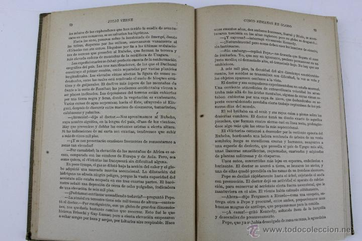 Libros de segunda mano: L-1193. JULIO VERNE. BIBLIOTECA DE GRANDES NOVELAS. 9 LIBROS. RAMON SOPENA. 1939 - 1941. - Foto 11 - 50603847