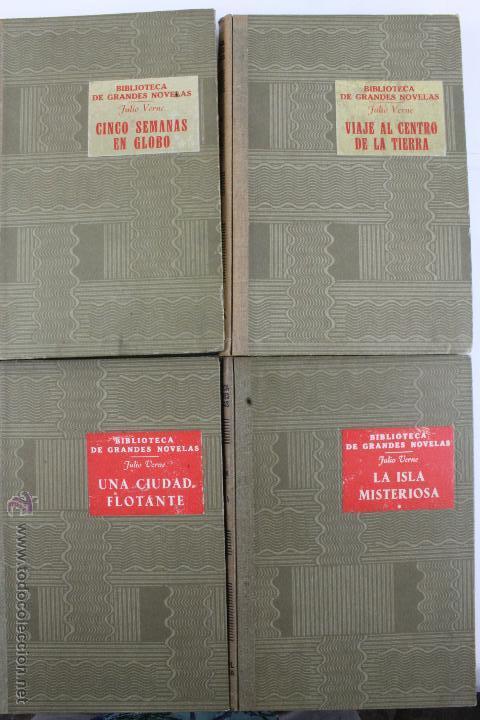 Libros de segunda mano: L-1193. JULIO VERNE. BIBLIOTECA DE GRANDES NOVELAS. 9 LIBROS. RAMON SOPENA. 1939 - 1941. - Foto 12 - 50603847