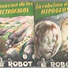 Libros de segunda mano: CIENCIA FICCION ROBOT EDITORIAL MANDO AÑOS 50, CASI COMPLETA - 13 LIBROS MAGNÍFICO ESTADO. Lote 51148244