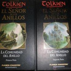 Libros de segunda mano: BIBLIOTECA TOLKIEN. EL SEÑOR DE LOS ANILLOS I. LA COMUNIDAD DEL ANILLO 2 TOMOS.. Lote 52638239