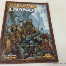 Libros de segunda mano: WARHAMMER ENANOS. EJERCITOS WARHAMMER . GAMES WORKSHOP . ESPAÑOL . Lote 52856529