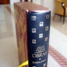 Libros de segunda mano: JULIO VERNE - OBRAS - PLAZA & JANES - 1ª EDICION 1961 - CON CAJETIN - INDICE VER FOTOS. Lote 53952049