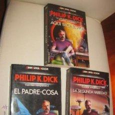Libros de segunda mano: PHILIP K.DICK - CUENTOS COMPLETOS 1, 2 Y 3 - SERIE COMPLETA - GRANSUPERFICCIÓN MARTINEZ ROCA -. Lote 54061760