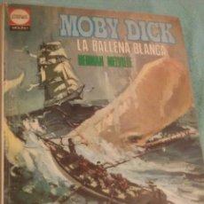 Libros de segunda mano: CLASICOS JUVENILES EDITA MOLINO MOBY DICK LA BALLENA BLANCA AUTOR HERNAN MELVILLE 1969. Lote 54107094