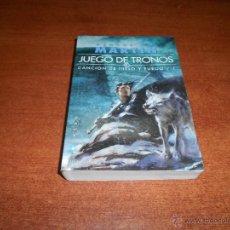 Libros de segunda mano: JUEGO DE TRONOS 2 CANCIONES DE HIELO Y FUEGO (GEORGE MARTIN) ED. GIGAMESH BOLSILLO.. Lote 54147480